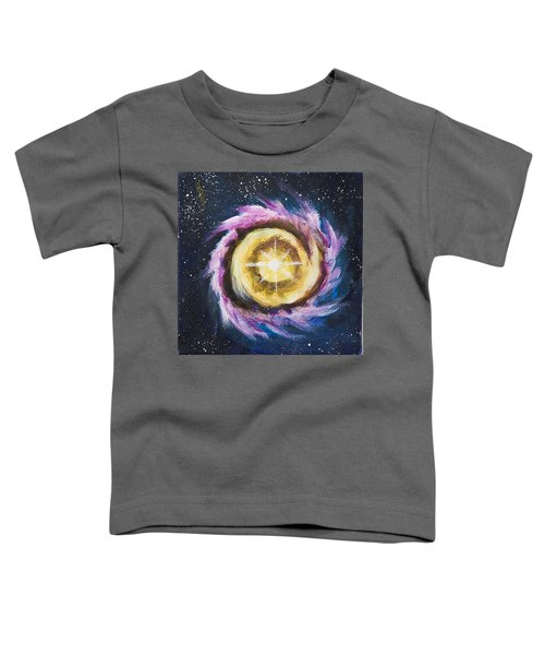 Toddler T-Shirt featuring the painting Birth Of A Star by Yulia Kazansky