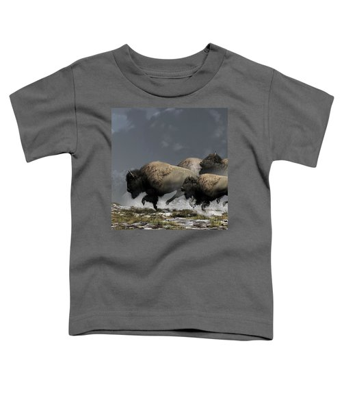 Bison Stampede Toddler T-Shirt
