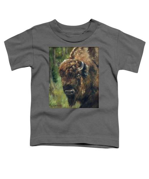 Bison Study - Zero Three Toddler T-Shirt