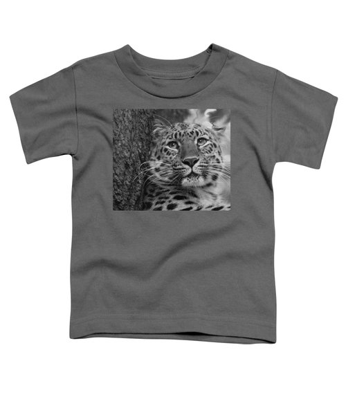 Black And White Amur Leopard Toddler T-Shirt