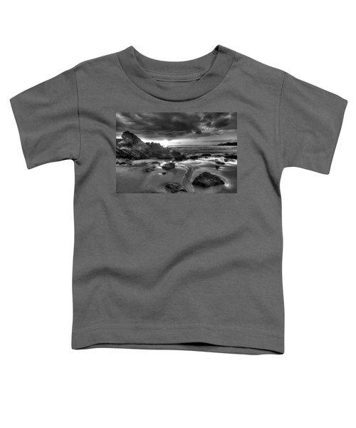 Black And White Laguna Beach Toddler T-Shirt