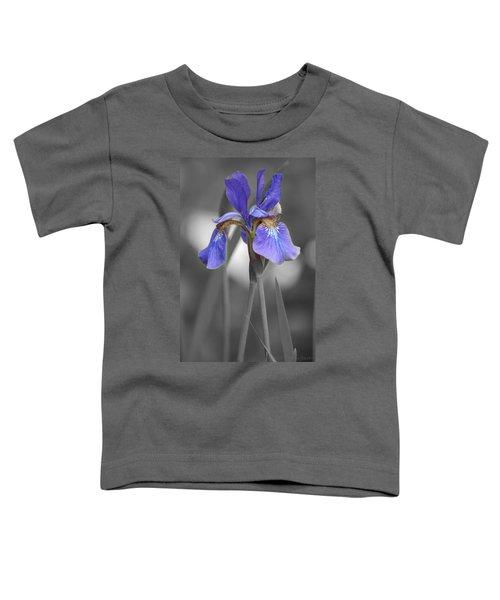 Black And White Purple Iris Toddler T-Shirt
