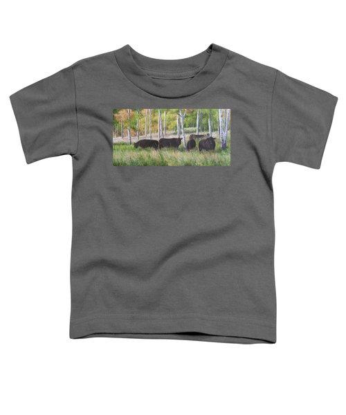Black Angus Grazing Toddler T-Shirt
