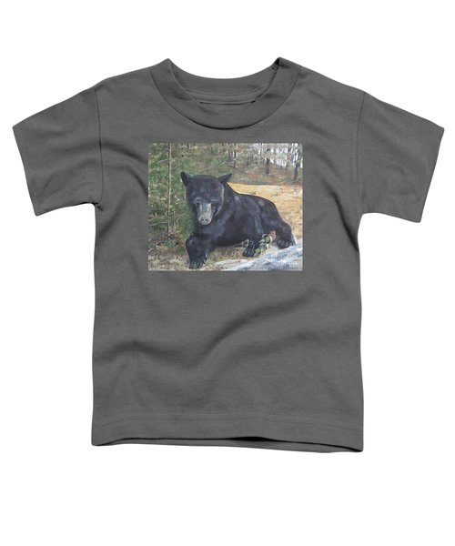 Black Bear - Wildlife Art -scruffy Toddler T-Shirt