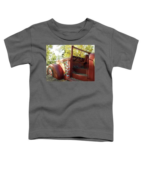 Blazing Red Fire Truck Toddler T-Shirt