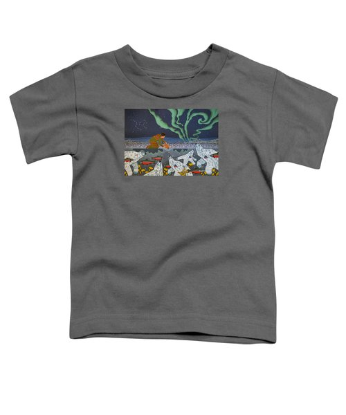 Toddler T-Shirt featuring the painting Blessing Of The Polar Bears by Chholing Taha