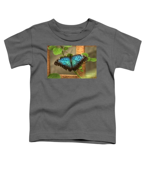 Blue And Black Butterfly Toddler T-Shirt