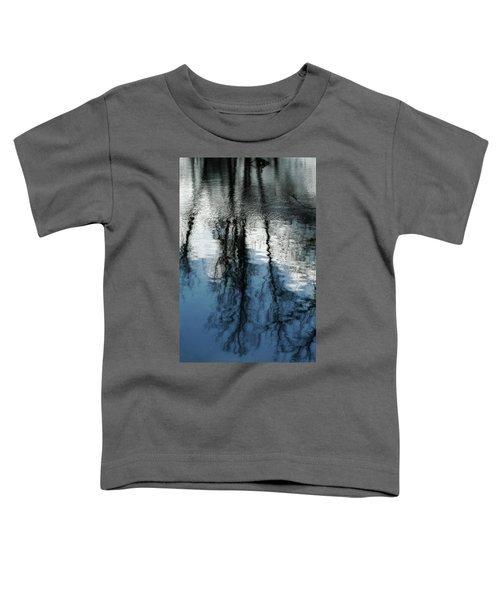 Blue And White Reflections Toddler T-Shirt