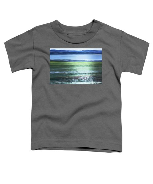 Blue Green Landscape Toddler T-Shirt