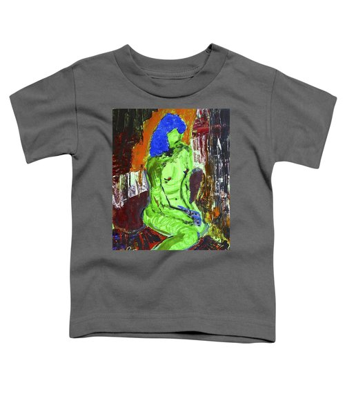 Blue Haired Nude Toddler T-Shirt