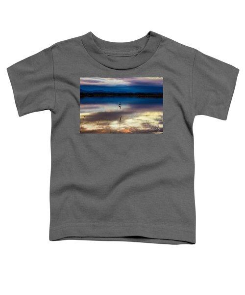 Blue Heron Sun Set Toddler T-Shirt