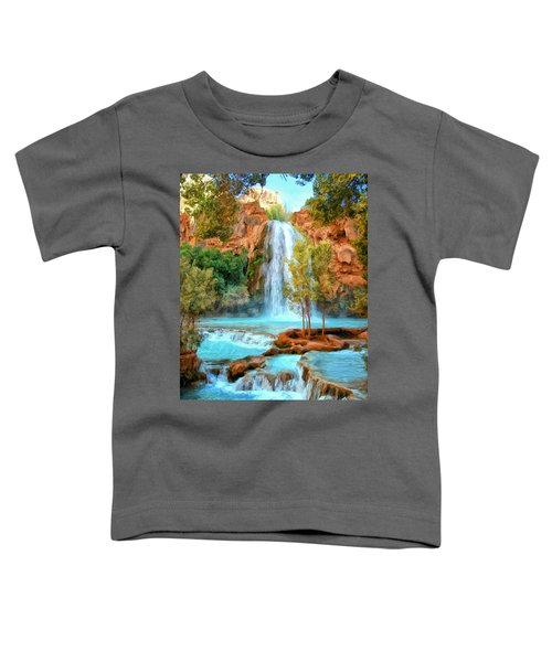 Blue Pool At Havasupai Falls Toddler T-Shirt