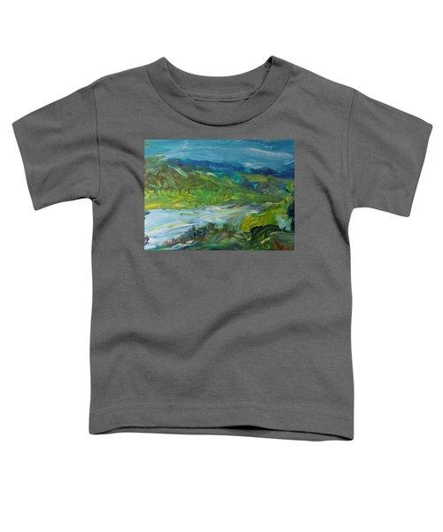 Blue River Landscape II, 1988 Oil On Canvas Toddler T-Shirt