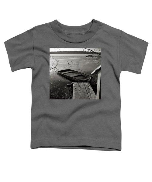 Boat In Ice - Lake Wingra - Madison - Wi Toddler T-Shirt