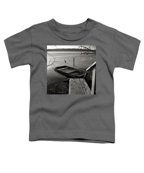 Boat In Ice - Lake Wingra - Madison - Wi Toddler T-Shirt