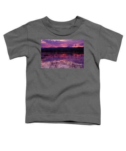 Bosque Sunset - Purple Toddler T-Shirt