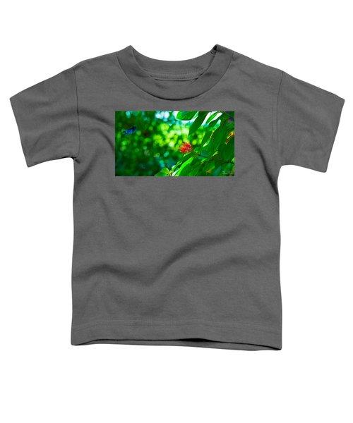 Botanical Garden Butterfly Toddler T-Shirt