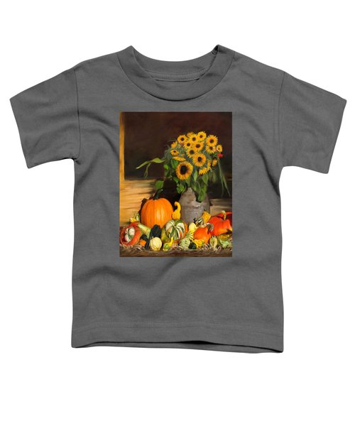 Bountiful Harvest - Floral Painting Toddler T-Shirt
