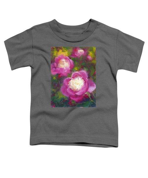 Bowls Of Beauty - Alaskan Peonies Toddler T-Shirt
