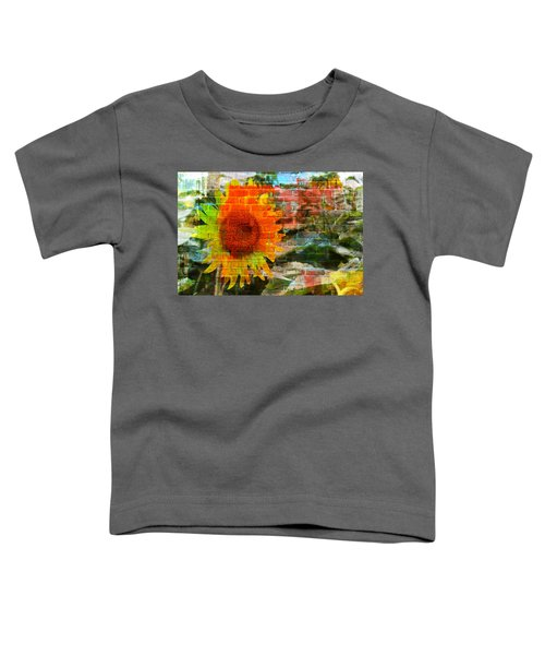 Bricks And Sunflowers Toddler T-Shirt