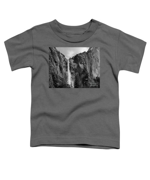 Bridalveil Falls In B And W Toddler T-Shirt