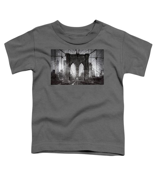 Brooklyn Bridge Snow Day Toddler T-Shirt