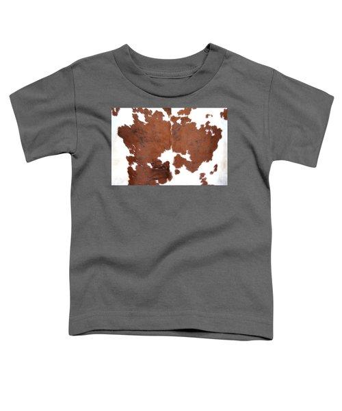 Brown Cowhide Toddler T-Shirt