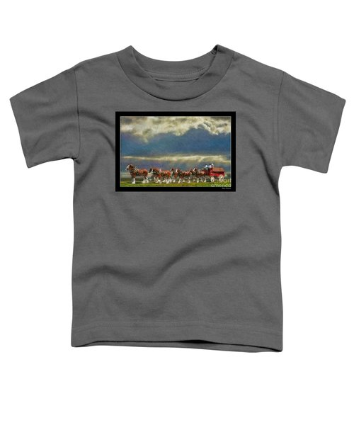 Budweiser Clydesdale Paint 2 Toddler T-Shirt