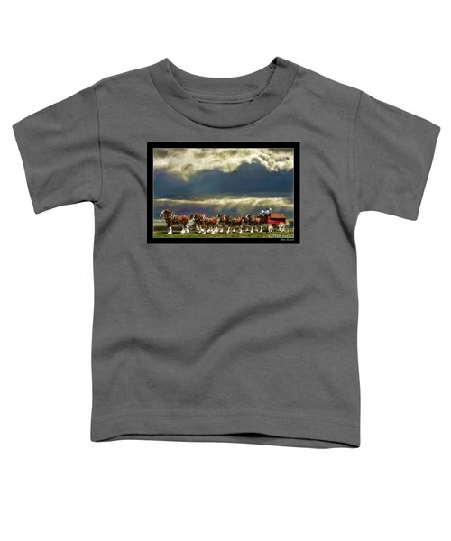 Budweiser Clydesdales Paint 1 Toddler T-Shirt