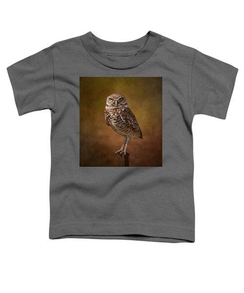 Burrowing Owl Portrait Toddler T-Shirt