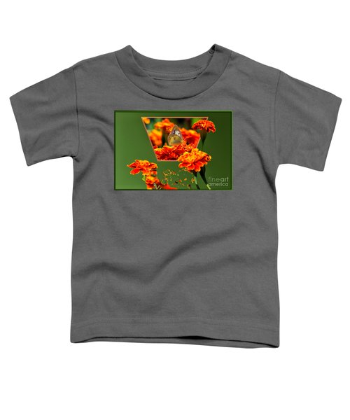 Butterfly In A Sea Of Orange Floral 02 Toddler T-Shirt
