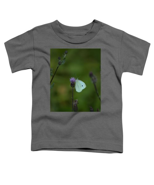 Butterfly In White 2 Toddler T-Shirt
