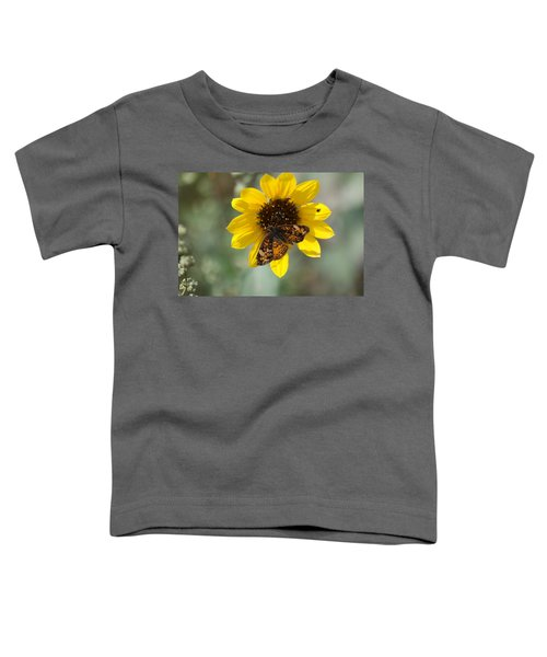Butterfly On A Flower Toddler T-Shirt