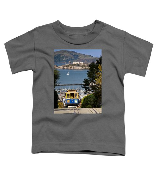 San Francisco Cable Car On Hyde Street Print By Brian Jannsen Photography Toddler T-Shirt