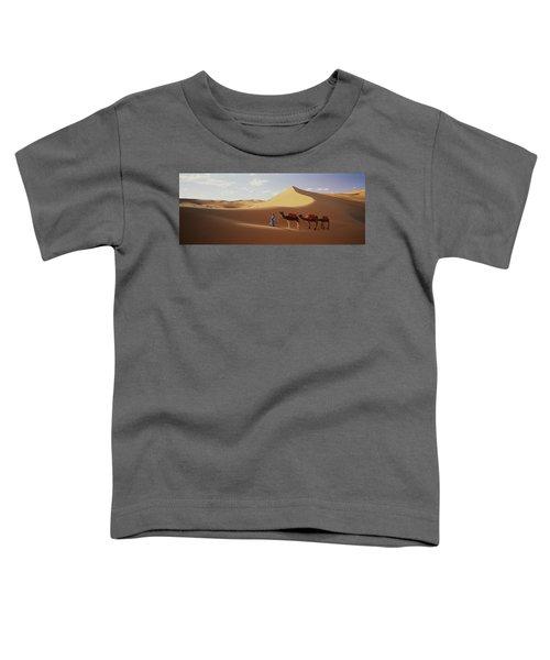 Camels In Desert Morocco Africa Toddler T-Shirt
