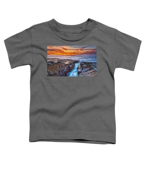 Cape Arago Crevasse Hdr Toddler T-Shirt