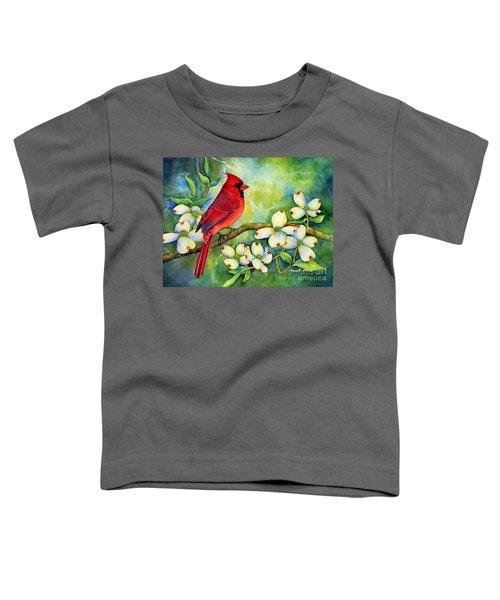 Cardinal On Dogwood Toddler T-Shirt