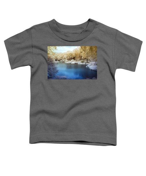 Central Park Lake Infrared Toddler T-Shirt