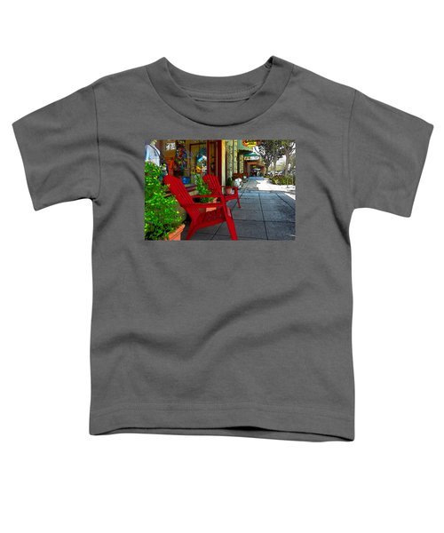 Chairs On A Sidewalk Toddler T-Shirt