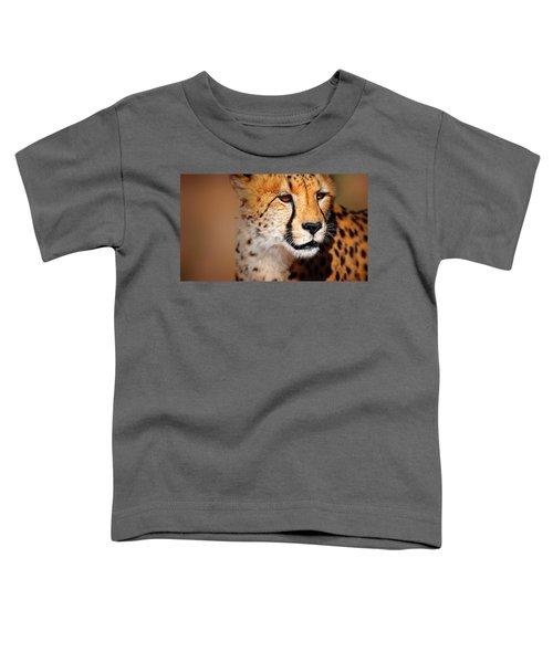 Cheetah Portrait Toddler T-Shirt