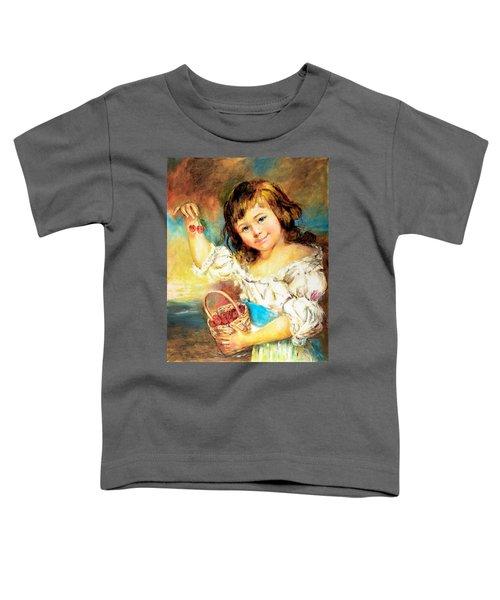 Cherry Basket Girl Toddler T-Shirt