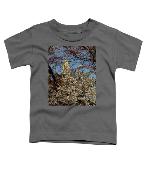 Cherry Blossoms And The Monument Toddler T-Shirt