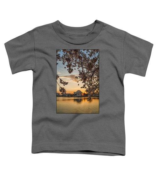 Cherry Sunrise Burst Toddler T-Shirt