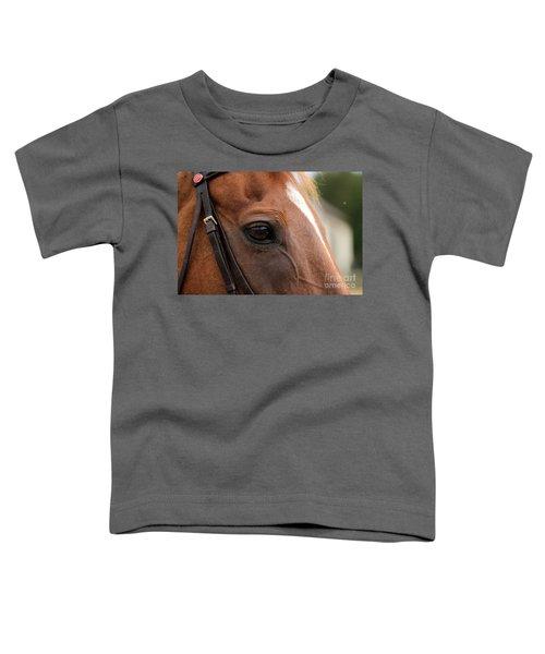 Chestnut Horse Eye Toddler T-Shirt