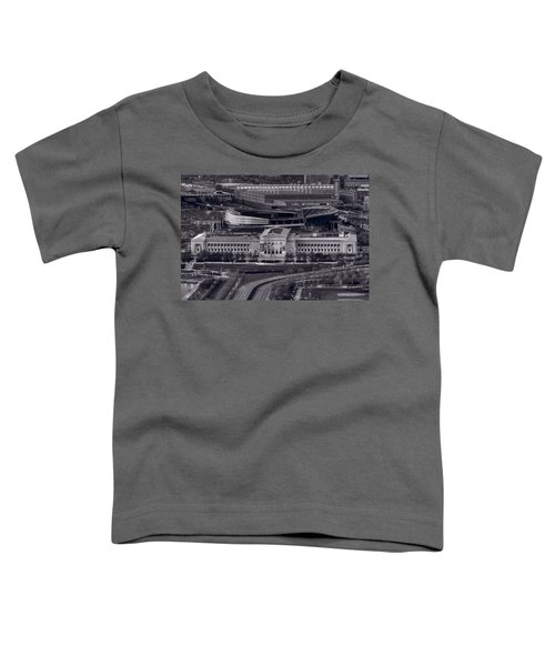 Chicago Icons Bw Toddler T-Shirt by Steve Gadomski