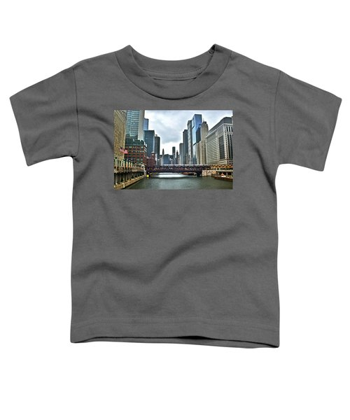 Chicago River And City Toddler T-Shirt
