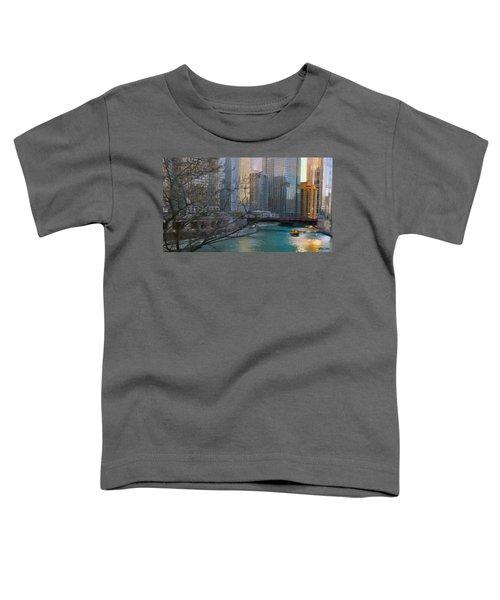 Chicago River Sunset Toddler T-Shirt