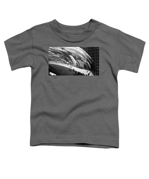 Chicago Skyline Reflected Bean Toddler T-Shirt