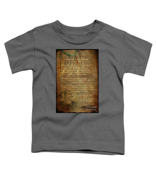 Chief Tecumseh Poem Toddler T-Shirt