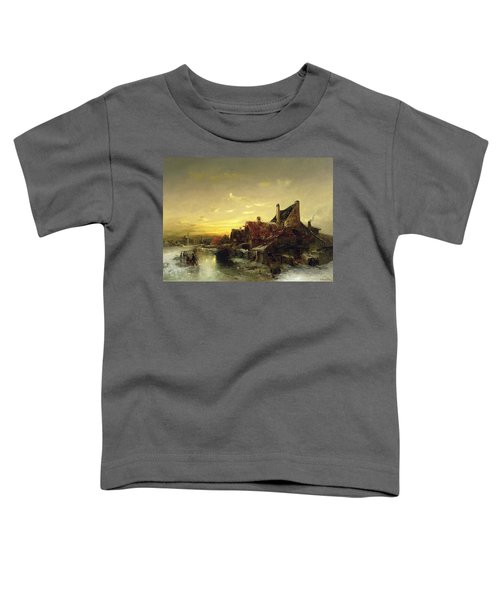 Children Playing On The Ice Toddler T-Shirt